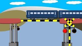 電車が通る踏切の橋の精霊-雨に弱い橋-