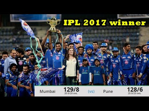 IPL 2017 final Mumbai indian Celebration, Pune Supergiant vs Mumbai Indians: MI beat RPS by 1 run