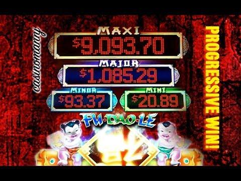 Fu Dao Le Progressive Win Slot Machine Bonus Youtube