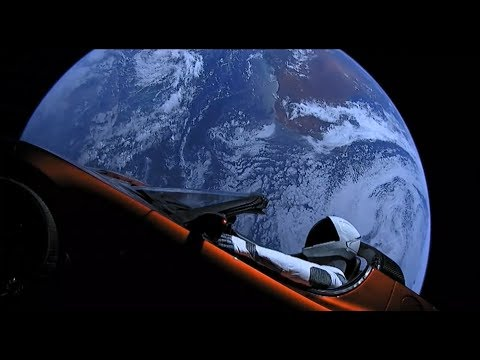 """SpaceX's """"Starman"""" live stream sped up 64 times"""
