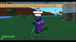Roblox One piece age of pirates Kachi DMG glitching.