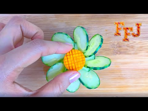 Cut the Carrot just so & Place it on Pile of Cucumber Petals & It Becomes a Great Ornament from YouTube · Duration:  2 minutes 34 seconds