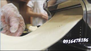 Máy ép mỳ sợi, (Máy cán mỳ chạy điện) cho sản phẩm đều mỏng