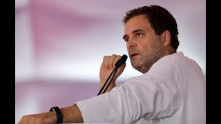 Congress President Rahul Gandhi addresses a gathering of party workers and leaders in Jaipur
