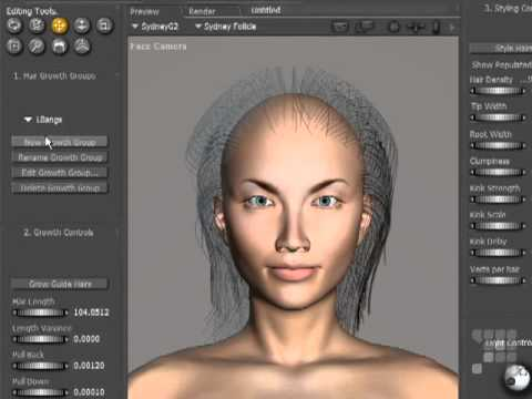 Poser Tutorial - Hair Dynamics