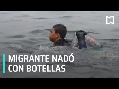 Migrante llega nadando con botellas de  plástico a las costas de Ceuta, España - Despierta