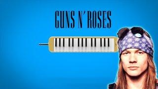 """Como tocar: """"Sweet Child O´Mine"""" - Guns N' Roses [ MELODICA ][ TUTORIAL ][ NOTAS ]"""