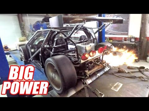 Supercharging Leroy Ep.8 - Dyno Day (big fireballs)