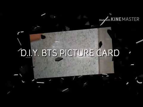 D.I.Y. easy BTS picture card kim jeon♡