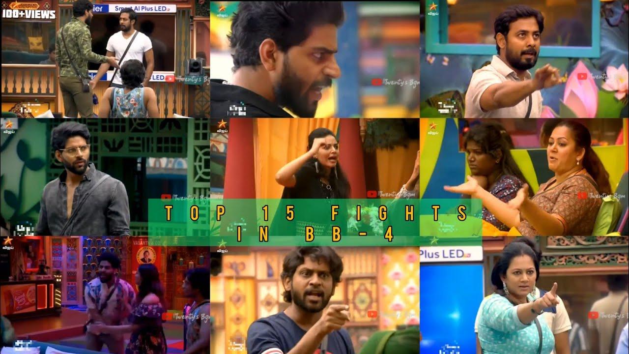 Download Top15 Fights in BB-4   Big boss 4 tamil Balaji Army edit attitude killer do watch it💥