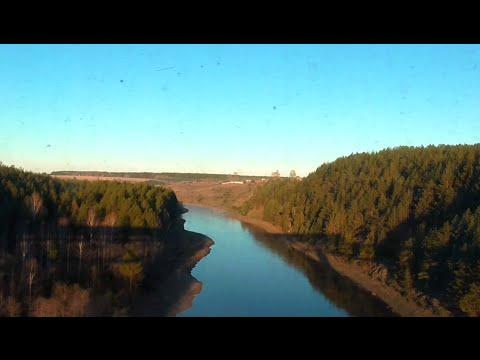 Вид из окна пригородного поезда от ст. Алапаевск до о.п. Незевай