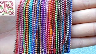 Ball chain Jewellery making    Jewellery making at home    jewellery making for kids    Poppyalley