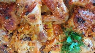 Курица с картошкой в духовке!!!(невероятно вкусно, пикантно, ароматно!!!)