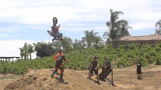 Dangerboy Deegan Backflips to dirt!