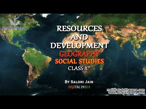 Resources and Development Video Lecture for  Class X SSt. Geography