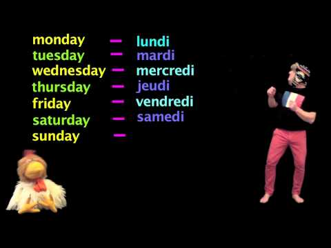 Learn French - Days of the week in French - French Lessons