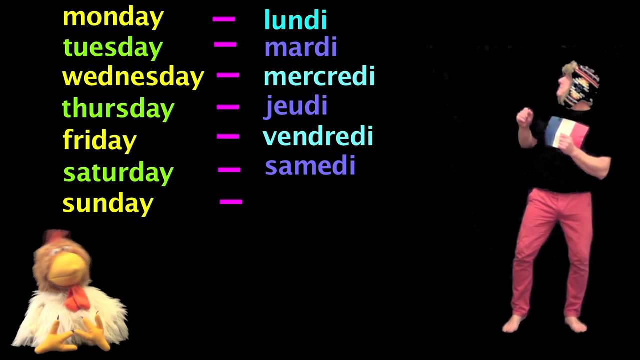 Learn French - Days of the week in French - French Lessons ...
