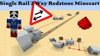 Minecraft Tutorial | How to call a Minecart | Redstone tutorial | Useful Redstone tips