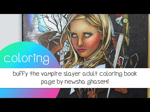Coloring Book Journey - 024 Buffy The Vampire Slayer by Newsha Ghasemi