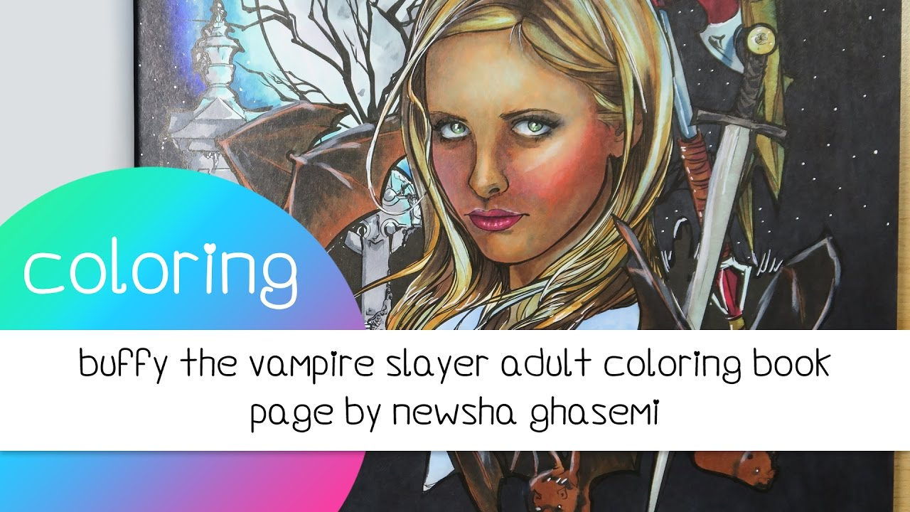 Coloring Book Journey 024 Buffy The Vampire Slayer By Newsha