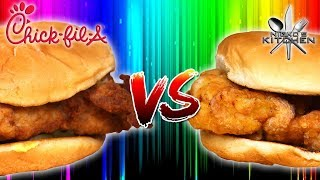 CHICK-FIL-A vs HOMEMADE - Laci Green eats Chick-Fil-A for the first time!!