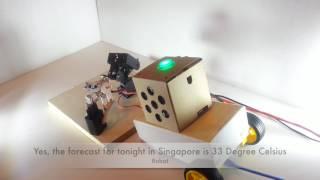 A Simple Voice Controlled Robot (Google AIY + Robotic Arm)