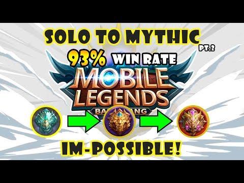 (HACK?!) 93% WR - Solo To Mythic (Pt.2)   Mobile Legends