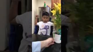 diễn viên Lý Thanh Thảo test trình độ tiếng Anh của con trai lớn