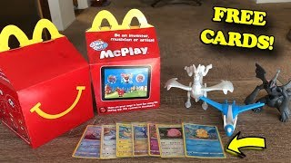 OPENING NEW POKEMON CARDS AND TOYS FROM MCDONALDS! *free cards*