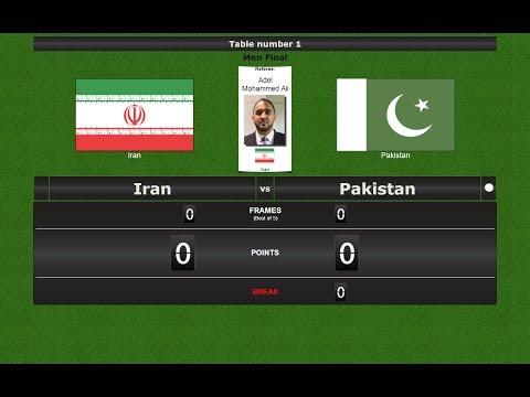 Snooker Team  Final : Iran vs Pakistan