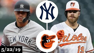New York Yankees vs Baltimore Orioles - Full Game Highlights | May 22, 2019 | 2019 MLB Season