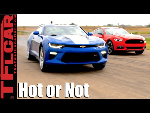 2016 Ford Mustang GT vs Chevy Camaro SS: Mashup Review - TFL Leaderboard Hot or Not Ep.13