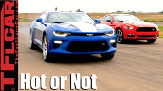 2016 Ford Mustang GT vs Chevy Camaro SS: Mashup Review - TFL Leaderboard Hot or Not Ep.13 thumbnail