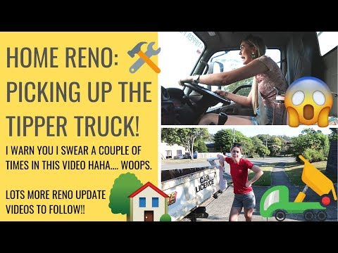 driving-a-tipper-truck-for-the-first-time- -#home-#renovation-#vlog- -ep.-11