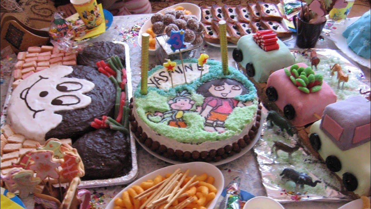 حلويات عيد ميلاد ابنتي التالت حلوى عيد ميلاد بيسكوي للأطفال Youtube Desserts Food Cake