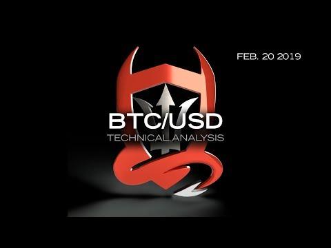Bitcoin Technical Analysis (BTC/USD) : Where'd I Put My Bull Horn..  [02.20.2019]re