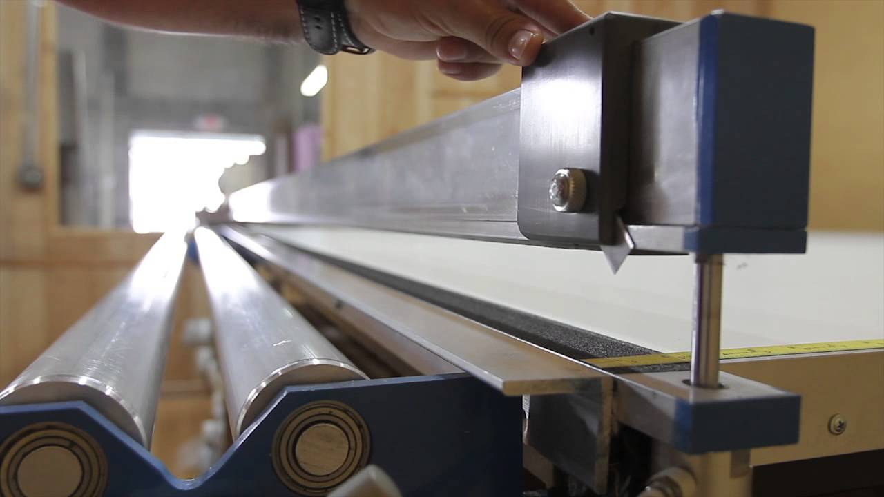 Arabel, Roller Shade Table, Manual Cutter - YouTube