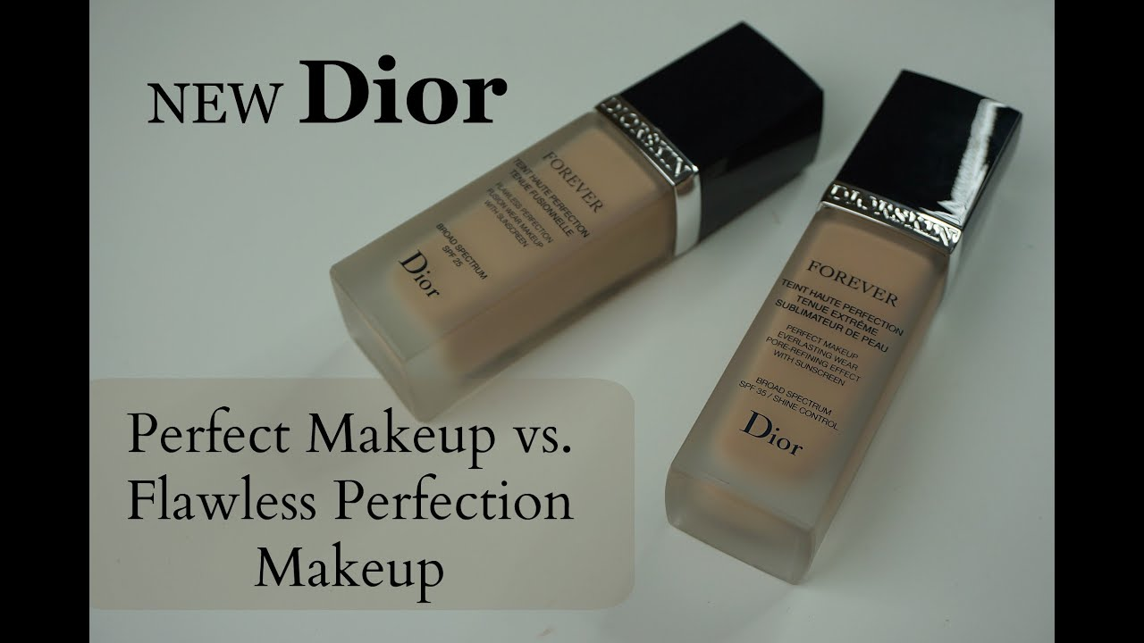 NEW Diorskin Forever Perfect Makeup vs. Diorskin Forever Flawless Perfection - YouTube