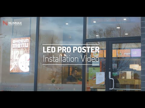 LED PRO Poster - Installation video of an easy to install LED Poster display for storefront windows