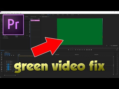 HOW TO FIX ADOBE PREMIERE CC IMPORTING GREEN FOOTAGE TUTORIAL