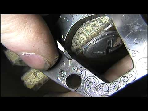 Hand Engraved Tattoo Machine Leaves by Shaun Hughes part 3