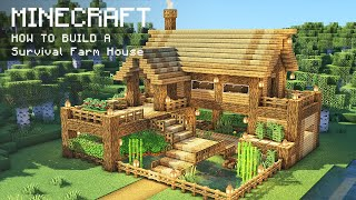 Minecraft: How To Build a Survival Farm House