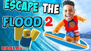 Running From Big Waves! The Ultimate Challenge - Roblox Gameplay Playonyx