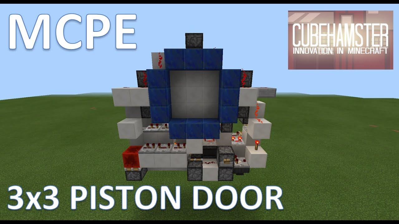 MCPE: Compact 3x3 Piston Door for 0.15.0 Pocket Edition + Tutorial & MCPE: Compact 3x3 Piston Door for 0.15.0 Pocket Edition + Tutorial ... Pezcame.Com