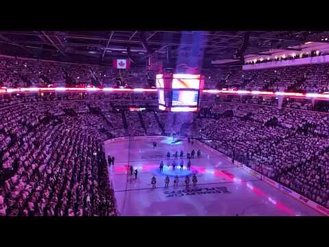 2015 Winnipeg Jets first home playoff game anthem