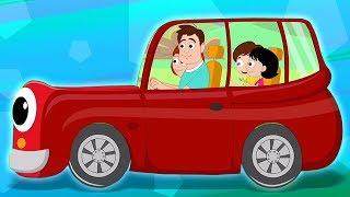 папа новая машина | песни для детей | детские стишки для детей | Daddys Red Car | Kids Tv Russia