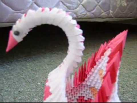 Custom Made Swan For Anniversary 3D Origami