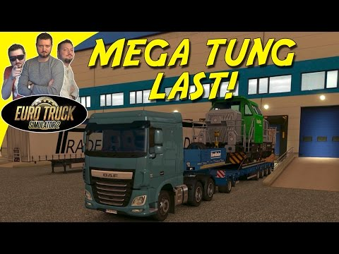 MEGA TUNG LAST! - Euro Truck Simulator 2 Dansk Heavy Cargo Pack DLC