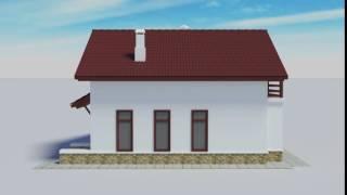 Визуализация проекта 2х этажного дома для северных широт(Общая площадь: 157 м2. Жилая площадь: 70 м2. Стены: пеноблок или отсевоблок. Гаража на проекте нет. Цоколя нет...., 2016-05-18T22:05:18.000Z)