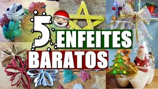 5 ENFEITES DE NATAL SUPER BARATOS PRA DECORAR A CASA
